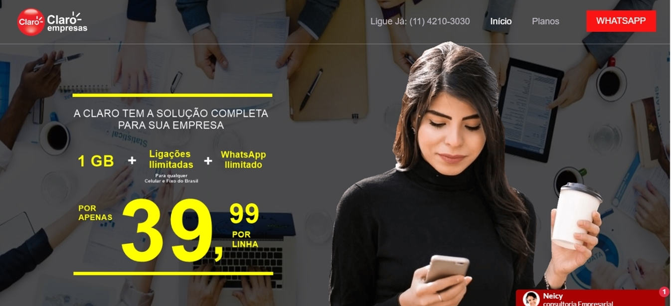Site Claro Empresas 2