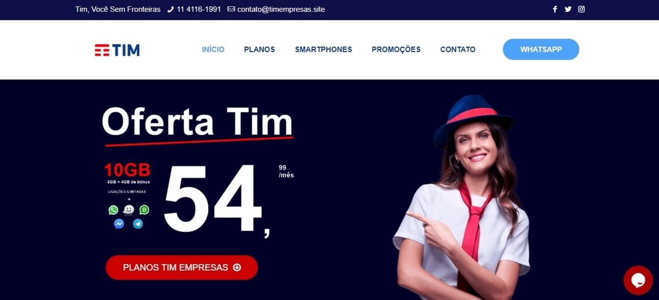 Site Tim Empresas