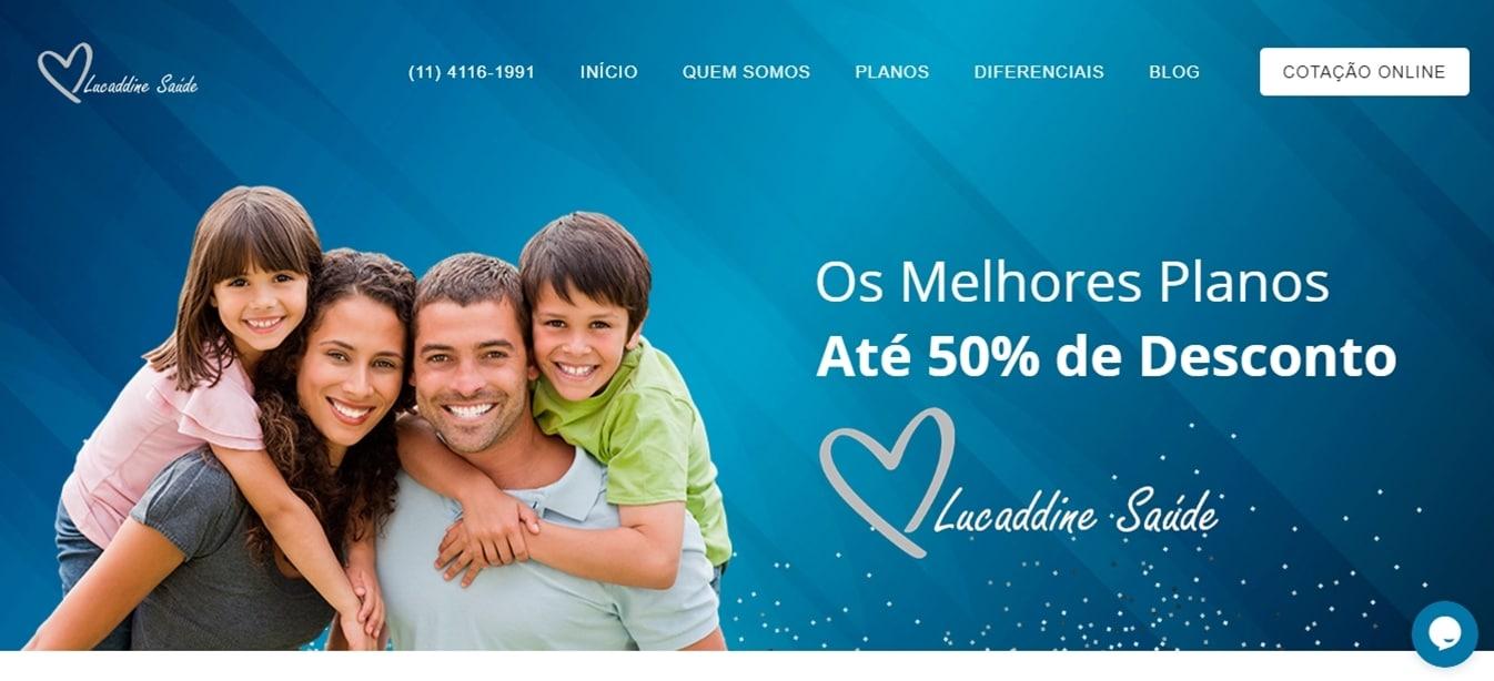 Site da Lucaddine Saúde